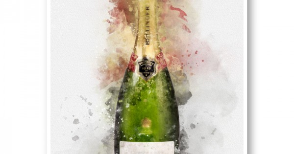 home with champagne art